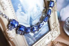 collar rhinestones azul, también lo tenemos e colores!