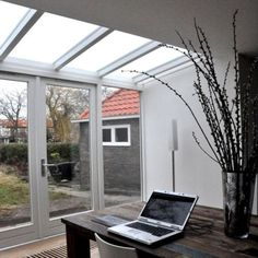 Something fairly basic like this would be okay Bungalow Extensions, Garden Room Extensions, House Extensions, Open Plan Kitchen Diner, Open Plan Kitchen Living Room, Door Design, House Design, Conservatory Kitchen, Contemporary Front Doors