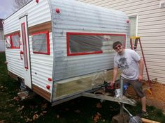 How to paint a vintage trailer