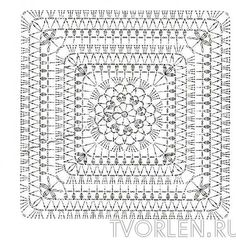 Crochet: Very Beautiful Patterns For Cur - Qoster Crochet Bedspread Pattern, Crochet Motif Patterns, Crochet Blocks, Granny Square Crochet Pattern, Crochet Diagram, Crochet Chart, Crochet Squares, Crochet Granny, Filet Crochet