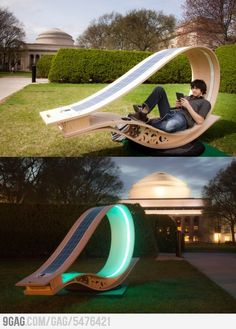 Solar Power Chair