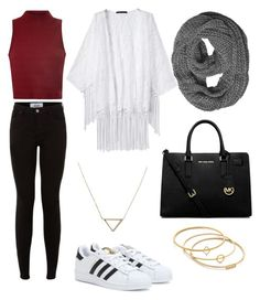 """""""Cute outfit"""" by fleur-tje on Polyvore featuring mode, adidas, Glamorous, MICHAEL Michael Kors, Banana Republic en Madewell"""