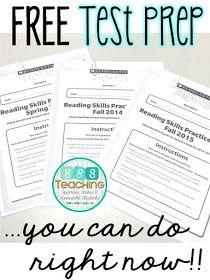 Higher Grades Take a look at Prep- FREE concepts! SSSTeaching: Higher Grades Take a look at Prep- F 4th Grade Ela, 6th Grade Reading, Reading Test, Third Grade, Reading Skills, Reading Lessons, Close Reading, Math Lessons, Test Taking Skills