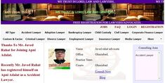 """Top Lawyers in Ghaziabad....    Thanks To Mr. Javed Rahat for Joining Apni Adalat.  Recently Mr. Javed Rahat has registered himself on Apni Adalat as a Accident Lawyer.  Free Registration is Open for Lawyers on Apni Adalat.  Register yourself to get more cases and clients.  Visit to """"apniadalat.com"""" for free registration. Good Lawyers, States Of India, Child Custody, Divorce Lawyers, Family Matters, Delhi Ncr, Finance, Trust, Lord"""