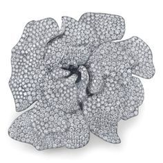 wallace chan fruit and vegetable brooches | Martin Katz Gardenia Brooch set in titanium with over 1,300 diamonds ...