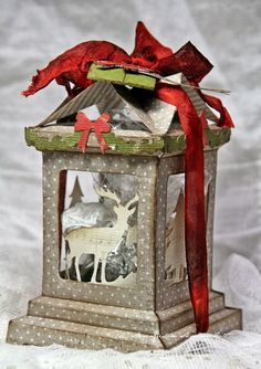 Crafting ideas from Sizzix UK: Gift Box; Although this is done using Sizzix dies, could try a version using the Silhouetts