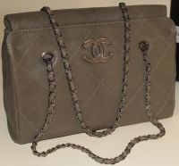 Chanel Khaki Hampton Large Shopping Bag #chanel #handbags