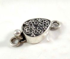 Qty 1 Small Decorative Sterling Silver Box Clasp by NightOwlGems, $12.00