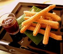 Churros are the perfect way to end a meal...Dining out in Playa Del Carmen.