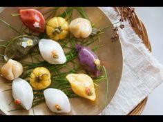 떡집만큼 예쁘게 송편 만들기~복숭아송편,꽃송편,호박송편 만드는법과 송편속만들기까지!/How to make korean rice cake Songpyeon - YouTube Korean Sweets, Korean Food, Rice Cakes, Goodies, Eggs, Asian, Dinner, Vegetables, Breakfast