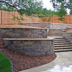 Landscape retaining walls Design Ideas, Pictures, Remodel and Decor