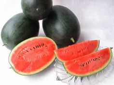 Dansuke Watermelon Densuke watermelons, a type of black watermelon grown only on the northern Japanese island of Hokkaido, are usually given as gifts due to their extraordinary rarity.