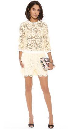 MSGM Lace Short Jumpsuit $1,320.00