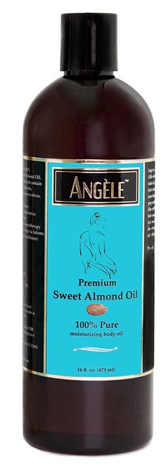 Angele Sweet Almond Oil –100% Pure Natural -16 Oz. -- Details can be found by clicking on the image. (Note:Amazon affiliate link)
