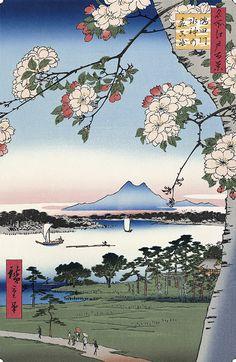 Hiroshige/隅田川水神の森真崎