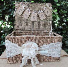 Hamper Basket Wedding Card Holder Post Box - Gift Cards -Seagrass Hamper