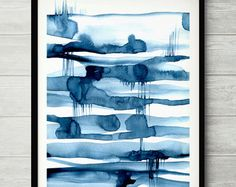 Watercolor Artwork, Watercolor Print, Painting Inspiration, Art Inspo, Pastel, Blue Painting, Blue Art, New Blue, Blue Abstract