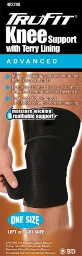 Tru-Fit Aerated Knee Brace, Black, One Size Fits All by TruFit. $12.03. Deluxe Terry Lined Open Patella Knee Brace Black Small
