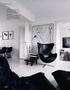 Home Design Decor, House Design, Interior Design, Home Decor, Copenhagen Hotel, Flea Market Style, Arne Jacobsen, Black Furniture, Black Decor