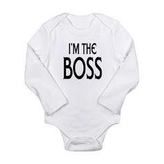 Im the Boss: Long Sleeve Infant Bodysuit