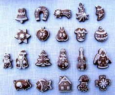 Vianočné medovníčky Meringue Cookies, Royal Icing Cookies, Sugar Cookies, Gingerbread House Designs, Gingerbread Man Cookies, Gingerbread Houses, Christmas Baking, Christmas Cookies, Clay Christmas Decorations