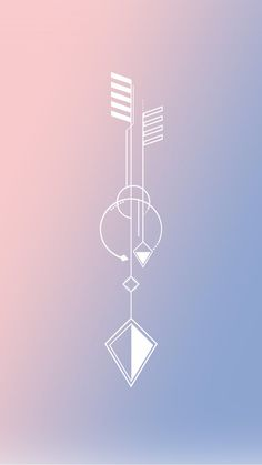 iPhone wallpaper serenity rose quartz Pantone 2016 arrow