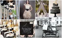 ★NEW BLOG POST★ Tuesday Huesday: Black & White Inspiration #wedding #decor #colorstory #socoevents