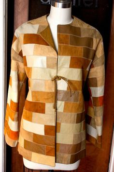 Patchwork Coats Jackets | Gorgeous 60s Leather and Suede Patchwork Jacket