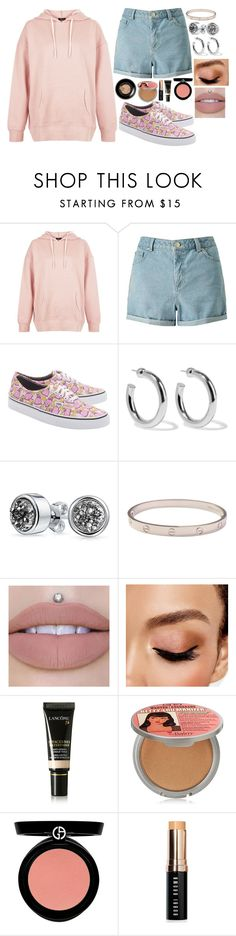 """""""Untitled #8260"""" by gabriellewidger ❤ liked on Polyvore featuring New Look, Miss Selfridge, Vans, Sophie Buhai, Bling Jewelry, Cartier, Avon, Lancôme, TheBalm and Armani Beauty"""