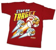 #Angry Birds, Star Wars 8−18 Stay On Target T−Shirt