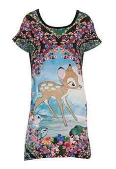 Image for Disney Bambi Silk Front Nightie from Peter Alexander