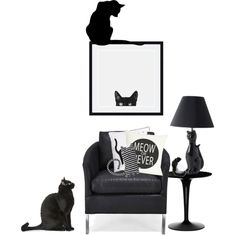 Happy Friday the 13th by sharmarie on Polyvore featuring interior, interiors, interior design, casa, home decor, interior decorating, Kartell, Amanti Art, One Bella Casa and Naked Decor