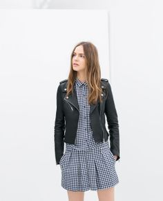 obsessing over this leather biker jacket from Zara