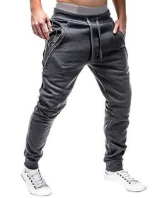 3b37fed911 Brand Male New Fashion 2018 Slim Solid color Men Casual Pants Maneosewe