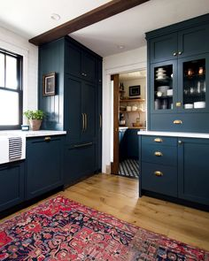 Modern And Trendy Kitchen Cabinets Ideas And Design Tips – Home Dcorz Kitchen Redo, Home Decor Kitchen, Kitchen Furniture, Kitchen Interior, Home Kitchens, Navy Blue Kitchen Cabinets, Navy Cabinets, Ikea Cabinets, Navy Blue Kitchens
