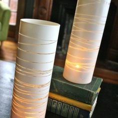 Vase, rubberbands or tape & paint