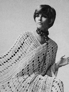 Vintage Crochet Pattern Pdf 1970s CROCHET PONCHO SET - fab poncho and pants/trousers Treasury Item 0040. $3.00, via Etsy.