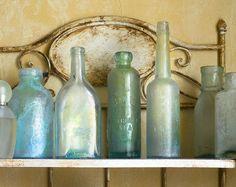 glass bottles for the kitchen