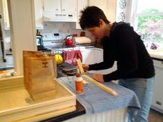 Making beehives with @beehoneyhealthy for our backyard project