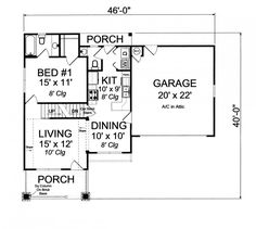 #656040 - 3 Bedroom 2.5 Bath Craftsman Cottage with walk-in attic : House Plans, Floor Plans, Home Plans, Plan It at HousePlanIt.com
