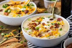 The Ultimate Creamy Potato Soup Ultimate Potato Soup Recipe, Best Potato Soup, Creamy Potato Soup, Loaded Baked Potato Soup, Baked Potatoes, Butter Bean Soup, Fall Soup Recipes, Easy Recipes, Easy Meals