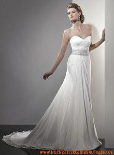 Schöne Ballkleid Stil A-Linie, Kleid mit einem dramatisch geraffte kreuz und quer Mieder Brautkleider