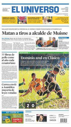 Portada de #DiarioELUNIVERSO del lunes 12 de mayo del 2014. Las #noticias de #Ecuador y el mundo en: www.eluniverso.com