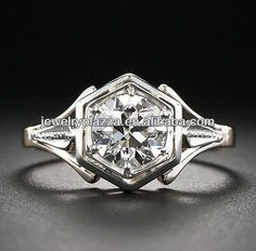 Deco diamond setting