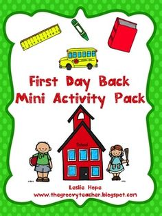 Start back to school with this free activity pack