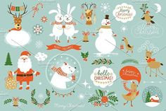 Christmas Set by lenlis on @creativemarket