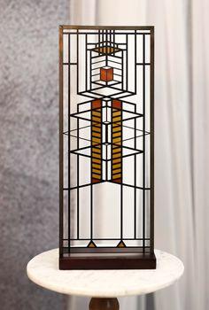 Modern Stained Glass Panels, Garage Windows, Casement Windows, Wooden Plaques, Stained Glass Projects, Frank Lloyd Wright, Geometric Lines, Window Design, Glass Art