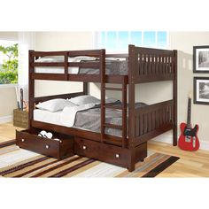 Best Twin Queen Size Bunk Bed Trundle With Drawer Storage Underneath