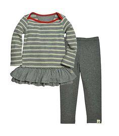 Stripe Thermal Dress Set - Burts Bees Baby