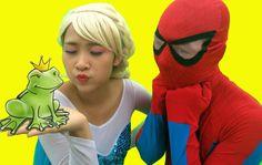 The frog Prince Spiderman Frozen Elsa True love Joker Fun Superheroes mo...